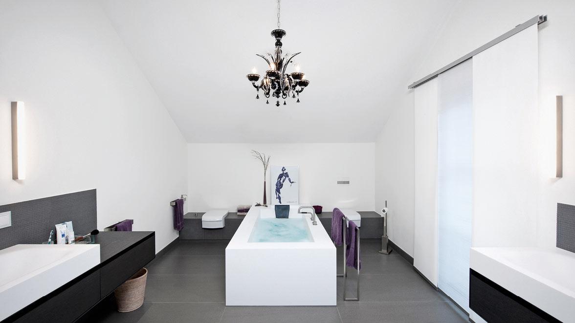 moderne badarchitektur f r grosse b der peterschelka auersthal die badgestalter sterreich. Black Bedroom Furniture Sets. Home Design Ideas